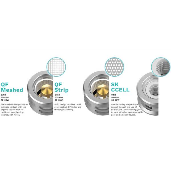 Vaporesso QF Meshed Coil 0.2 Ohm Fordamperhode